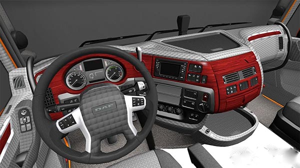 DAF E6 Red Grey Interior