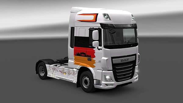 DAF XF Euro 6 EM Truck Germany Skin