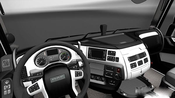 DAF XF Euro 6 White Black Interior