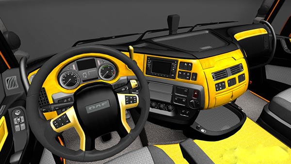 DAF XF Euro 6 Yellow Black Interior