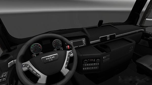 MAN TGX Dark Black Interior