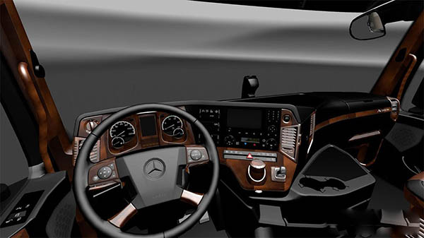 Mercedes Actros MP4 2014 Brown Black Interior
