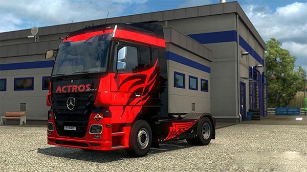 Mercedes MP3 Black Actros Skin