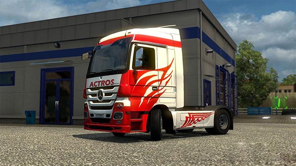 Mercedes MP3 White Actros Skin