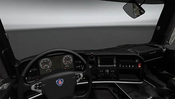 Scania Black Interior