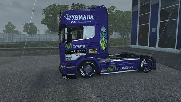 Scania R Movistar Yamaha Skin