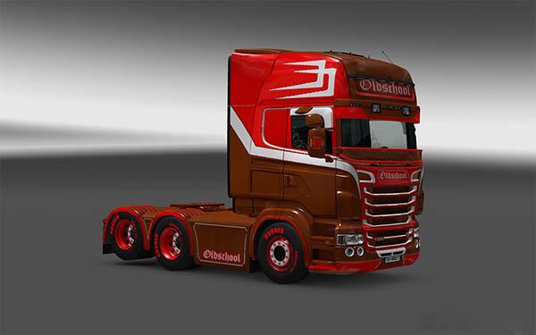 Scania RJL Topline Oldschool skin