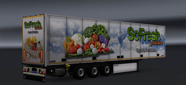 Vegetables trailer