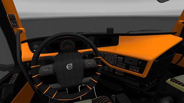 Volvo 2012 Black Orange Interior