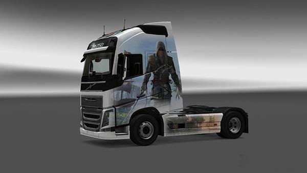 Volvo FH 2012 Assasins Cread AC4 Skin