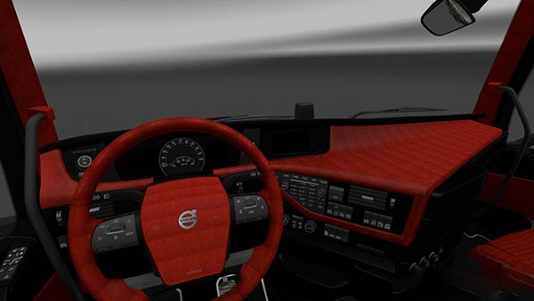 Volvo FH16 2012 Red Black Interior